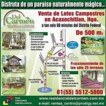 TERRENOS EN ACAXOCHITLAN HIDALGO en acaxochitlan, Hidalgo