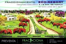 TERRENOS 20X50.PREVENTA.CLUB RESIDENCIAL ECORESORT en Ocozocoautla de Espinosa, Chiapas