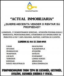 QUIERE-NECESITA VENDER O RENTAR SU PROPIEDAD? en Naucalpan de Juárez, México