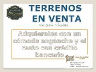 San Nicolas Terrenos con crédito en San Nicolás de los Garza, Nuevo León