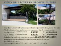 TERRENOS EN PALMIRA en Cuernavaca, Morelos