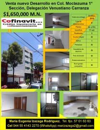 Venta Nuevo Desarrollo en Col. Moctezuma 1° Secció en Ciudad de México, Distrito Federal