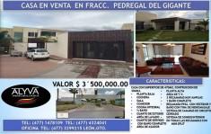 Casa de 3 recámaras en Fracc. Pedregal del gigante en León de los Aldama, Guanajuato