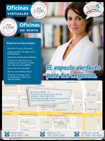 Renta de oficinas Físicas y virtuales en Hermosillo, Sonora