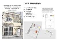 RENTO DEPARTAMENTO, COMODO, SEGURO Y CENTRICO en Palenque, Chiapas