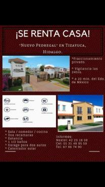 Se renta casa en tizayuca en Tizayuca, Hidalgo