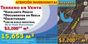 Atencion  Terreno en Venta Excelente Ubicación en Tultitlan, Mexico