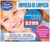 LAVADO DE SALAS LIMPIEZA GARANTIZADA CLEAN COMPANY en Tonalá, Jalisco