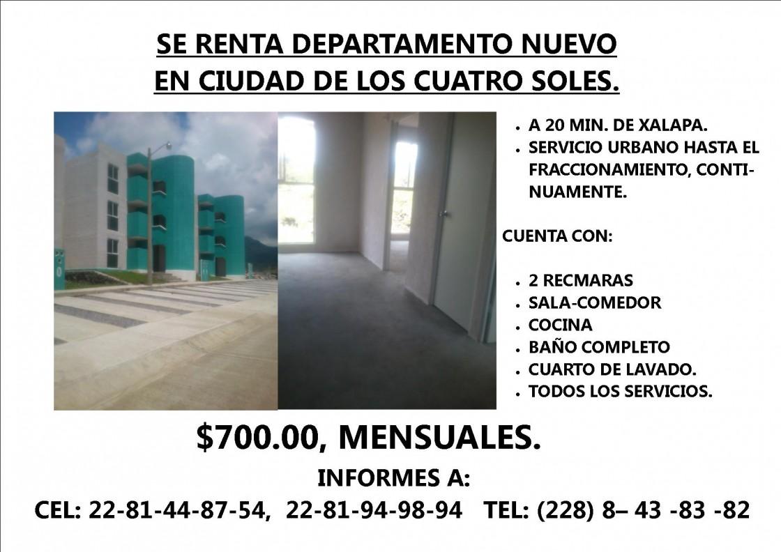 Departamento en renta en xalapa 7858 hab tala for Anuncios de renta de cuartos