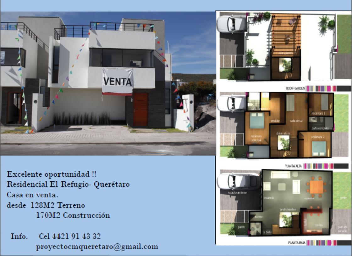 Casa en venta en residencial el refugio quer taro 1625 for Casa del diseno queretaro