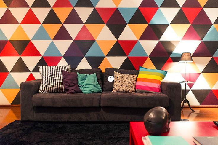 Decoración geométrica en casa